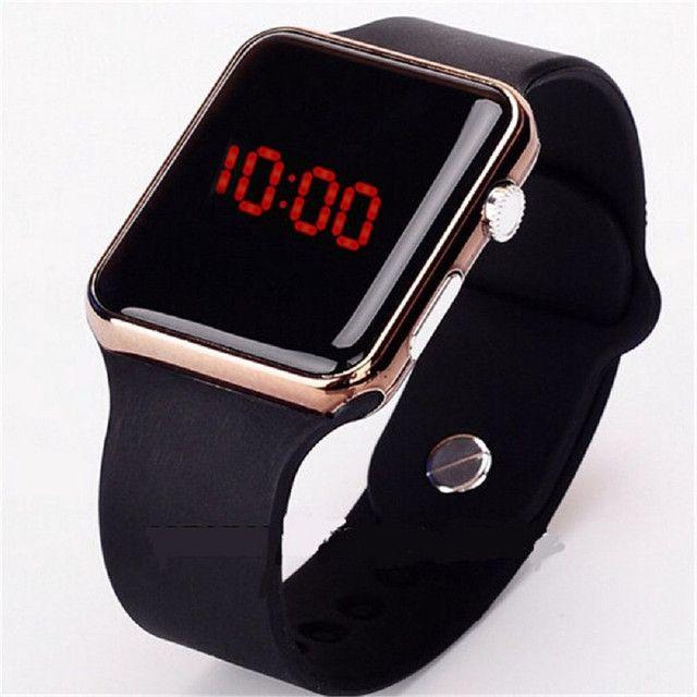 Relógio de Pulso com Pulseira de Silicone Fashion / Relógio LED Digital Esportivo - Foto 3