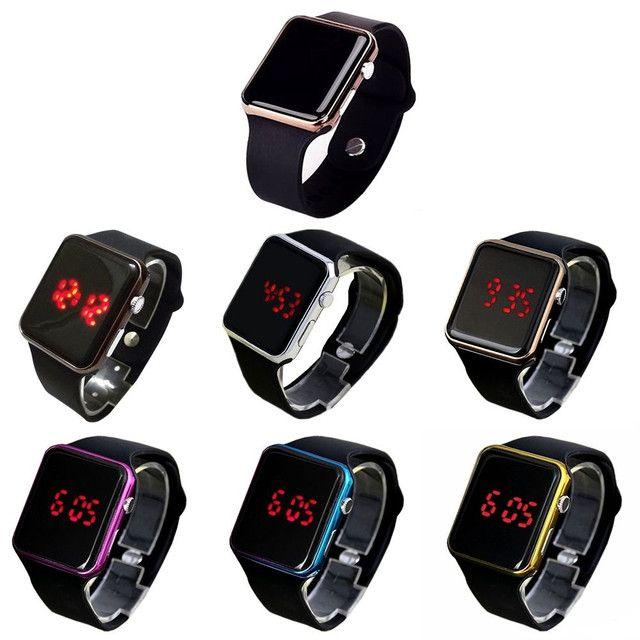 Relógio de Pulso com Pulseira de Silicone Fashion / Relógio LED Digital Esportivo - Foto 5