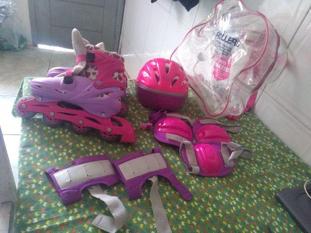 Vendo kit de patins usado - Foto 2