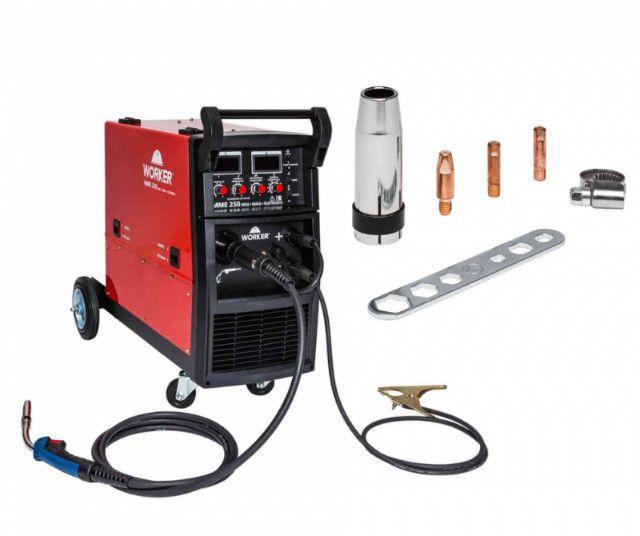 Maquina de Solda Mig/Mag Com Tocha 250A MME250 Worker