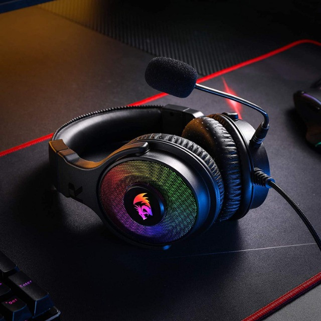 Fone de Ouvido Headset Gamer Pandora H350 RGB Redragon - Foto 6