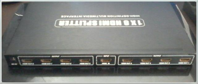 Divisor Distribuidor HDMI 1x8 Splitter Ideal distribuição de vídeo