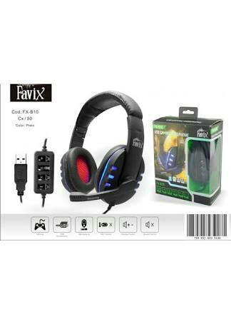 Fone Ouvido Favix B10 Usb Ps3 Xbox Pc Microfone Notebook Headset FX-B10 Stereo