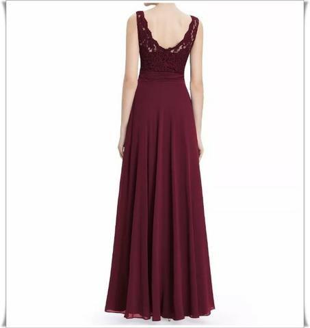 e36abcda7 Vestido Festa Importa Longo Ever Pretty Marsala - Roupas e calçados ...