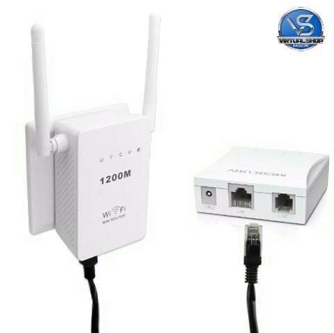 Repetidor De Sinal Wifi Roteador 2 Antenas 1200mbps Sem Fio