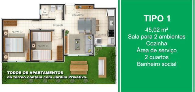 O Maior e Melhor Apartamento da Região - 2 e 3 Quartos, Suíte, Elevador e Jardim - Foto 8