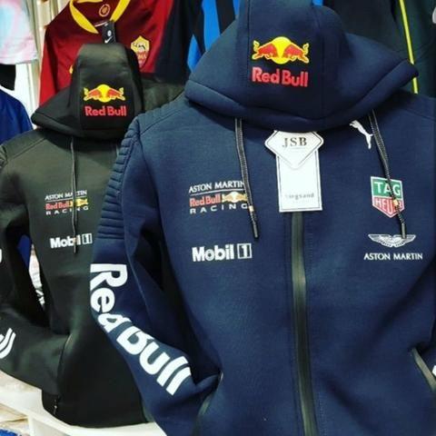 af14e0045d348 Agasalho Blusa Jaqueta Red Bull Racing F1 Toca Lançamento - Roupas e ...