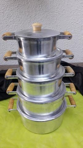 Jogo de panelas de alumínio batido - Foto 4