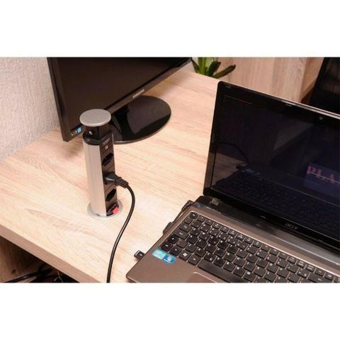 Torre de tomada multiplug com 2 USB e 2 tomadas - Renna - Foto 2