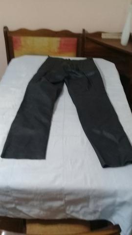 Calça motococlista de couro legitimo (40) - Foto 2