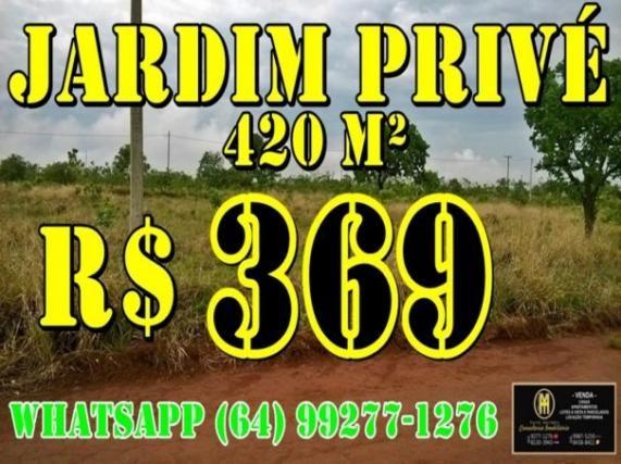 Lote com 420 metros Parcelados - Jardim Privé das Caldas - Caldas Novas Goiás