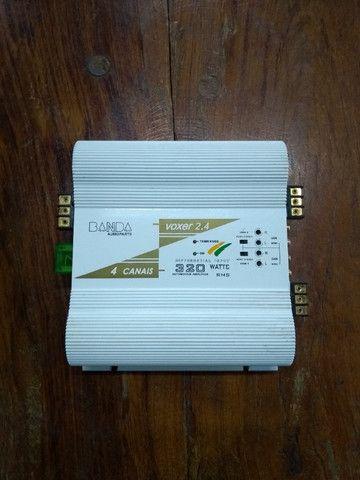 """Módulo Amplificador Banda Voxer 2.4 - 320 Watts Rms ### Muito Conservada """"Relíquia"""" # - Foto 2"""