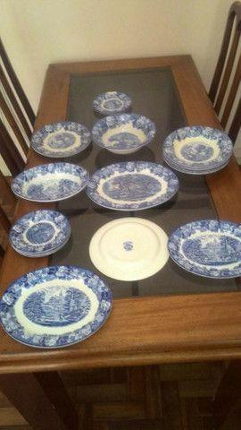 Peças De Jantar, Porcelana Inglesa importada, Original Wood & Sons  - Foto 3