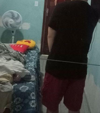 Camiseta de algodão canelada oversized Tamanho M - Foto 4