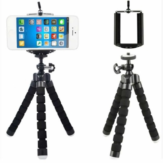 Tripé Flexível Portátil Pequeno para Suporte de Câmera / Celular - Foto 3