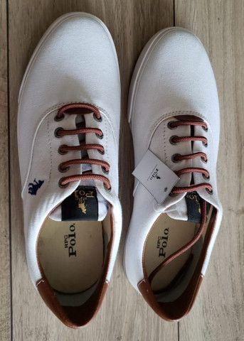 Tênis Polo HPC Branco de Lona Masculino ? Tamanho 42 - Foto 3