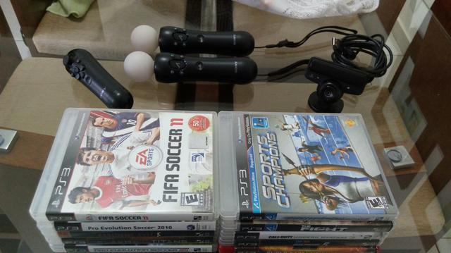 Kit ps3 move mais jogos de ps3