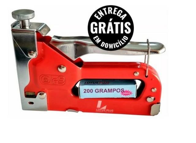 Grampeador C/ Pinador 31 C/ 200 Grampos 4-14mm Lotus - estrega grátis