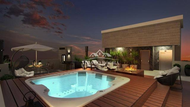 Studio com 1 dormitório à venda, 39 m² por r$ 189.000 - são pedro - são josé dos pinhais/p - Foto 13