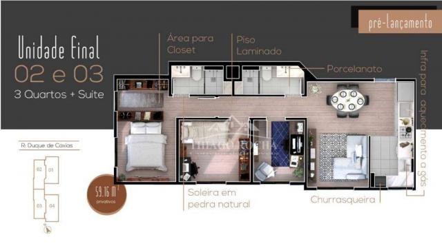 Apartamento 3 quartos, sendo 1 suíte, sacada com churrasqueira, vaga de estacionamento cob - Foto 8
