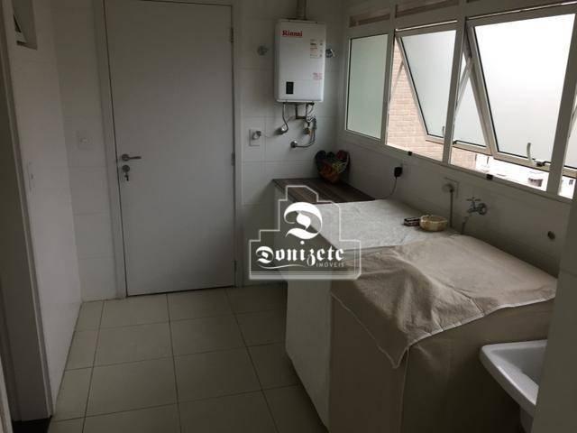 Apartamento com 4 dormitórios à venda, 165 m² por r$ 1.300.000 - bairro jardim - santo and - Foto 18