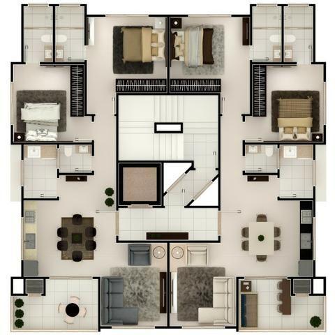 Apartamento meia praia 2 suítes com 2 vagas novo - Foto 19