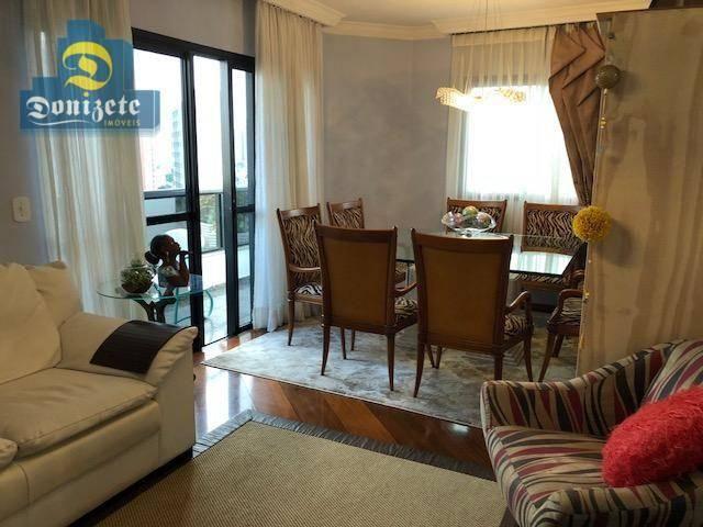 Apartamento com 3 dormitórios à venda, 150 m² por r$ 550.000,01 - vila bastos - santo andr