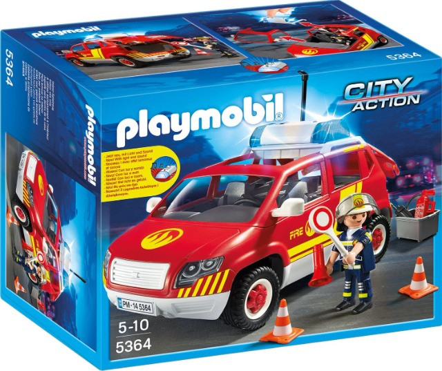 Playmobil 5364 - Fire Chief's Car with lights & sound