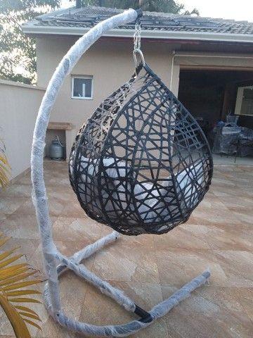 Balanço teto suspenso junco sintético ANTI-UV - Foto 6