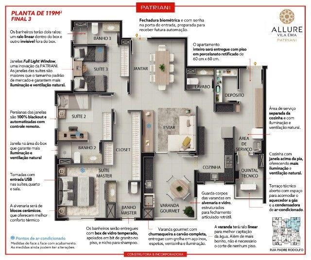 - Vila Ema  - Allure - 119m² - 3 dormitórios - 3 suítes - 2 Vagas - Foto 3