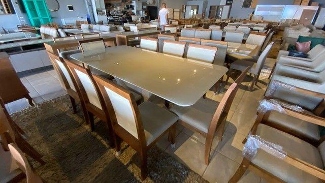 Mesa 8 completa de madeira maciça pronta entrega  - Foto 3