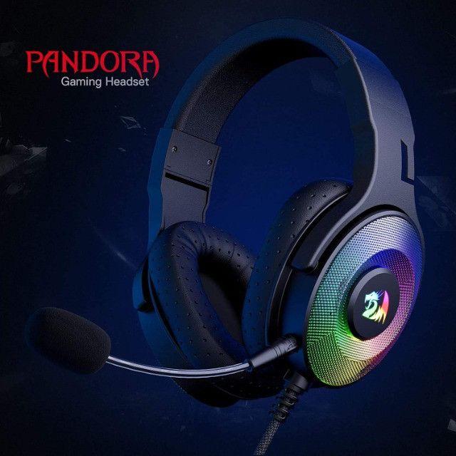 Fone de Ouvido Headset Gamer Pandora H350 RGB Redragon - Foto 3