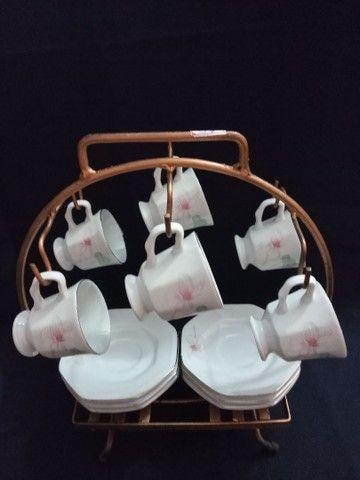 Conjunto de porcelana Schmidt para cafezinho.<br> - Foto 3