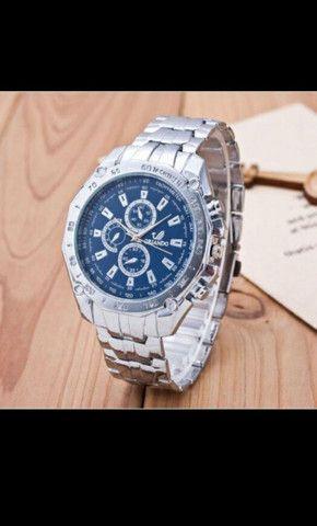 Relógio de Luxo Masculino de Quartzo/Relógio de Aço Inoxidável Geneva para Homens - Foto 4
