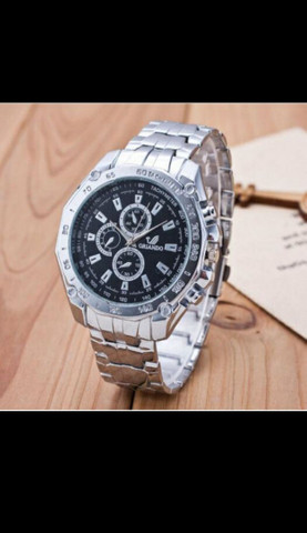 Relógio de Luxo Masculino de Quartzo/Relógio de Aço Inoxidável Geneva para Homens - Foto 5