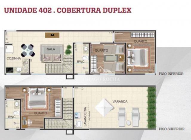 Cobertura duplex com 2 dormitórios à venda, 102 m² por r$ 440.000 - centro - são josé dos  - Foto 20