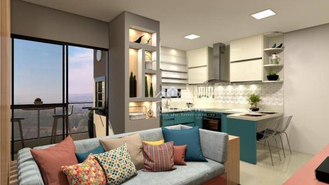 Studio com 1 dormitório à venda, 39 m² por r$ 189.000 - são pedro - são josé dos pinhais/p