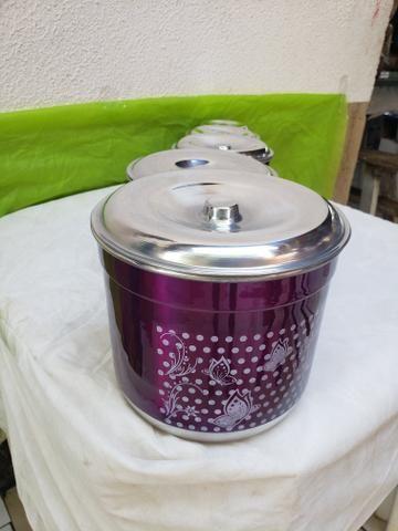 Latas para mantimentos de alumínio