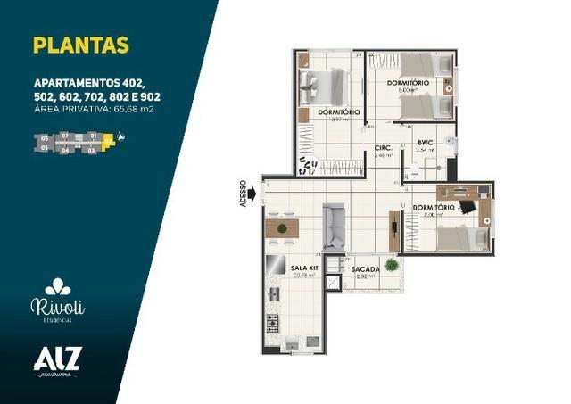 Apartamento 3 dormitórios, Minha Casa, Minha Vida, Pagani - Palhoça - Foto 11
