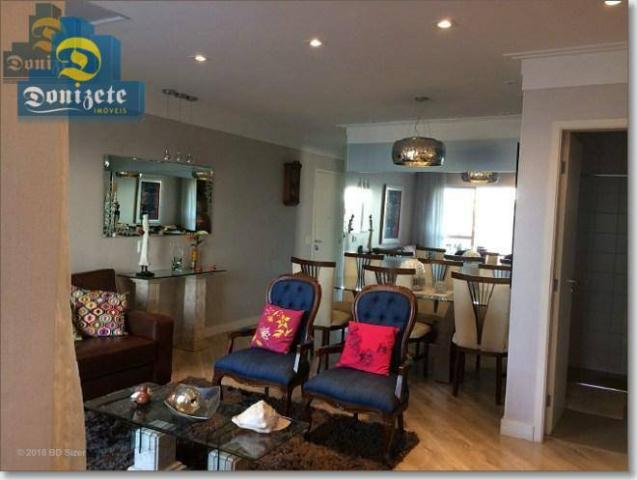 Apartamento com 3 dormitórios à venda, 89 m² por r$ 590.000,10 - cerâmica - são caetano do - Foto 2
