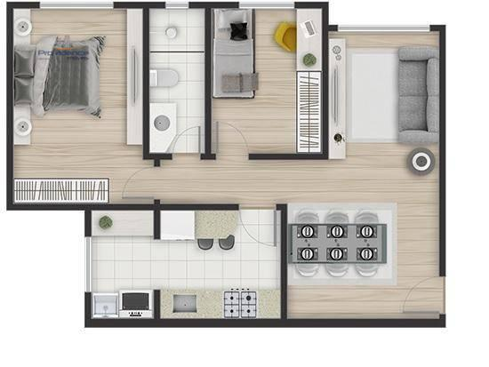 Apartamento com 2 dormitórios à venda, 61 m² por R$ 213.000,00 - Pioneiros Catarinenses -  - Foto 2