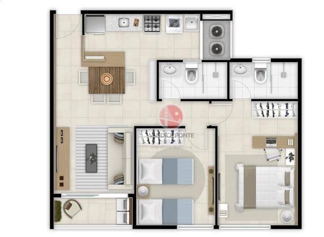 Apartamento com 2 dormitórios à venda, 56 m² por R$ 500.000,00 - Benfica - Fortaleza/CE - Foto 12
