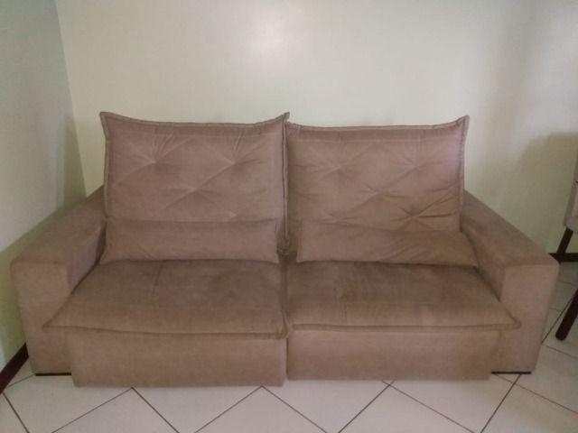 Sofá retrátil confortável 4 lugares - Móveis - Aroeira ...