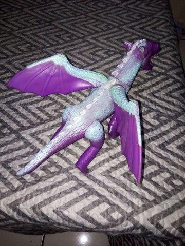 Dragão de brinquedo que faz barulho de rugido - Foto 3