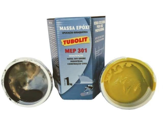 Tubolit Massa Epoxi Naval Subaquática Cola Bi A +  - Foto 2