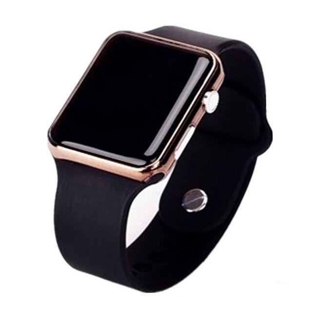 Relógio de Pulso com Pulseira de Silicone Fashion / Relógio LED Digital Esportivo