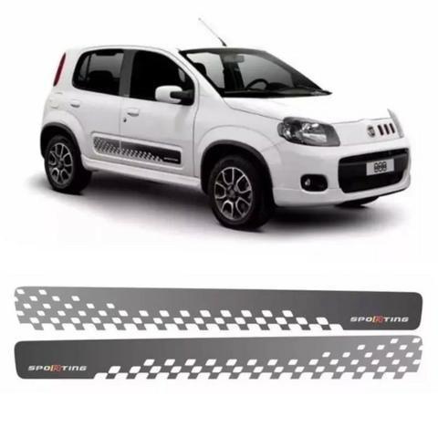 Kit Faixa Adesivos Novo Fiat Uno Sporting 2013 em diante / modelo original / Instalada