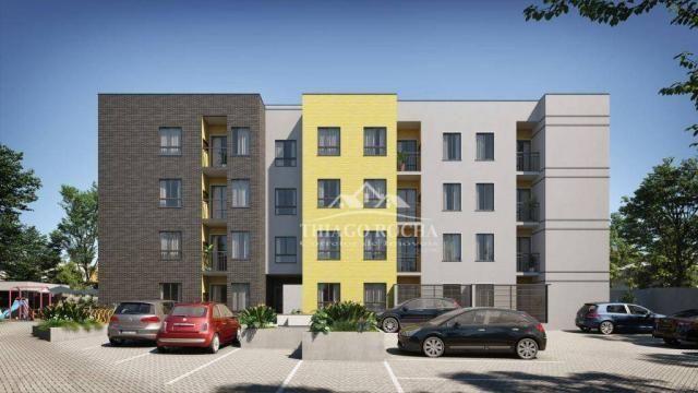 Apartamento térreo com 3 dormitórios à venda, 50 m² por r$ 209.900 - tingui - curitiba/pr