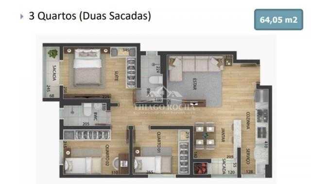 Apartamento garden com 15,45 m² para o seu pet, 2 quartos, churrasqueira e garagem coberta - Foto 8
