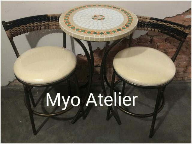 Mesa sacada, mesa varanda, moveis, conjunto de mesa - Foto 2